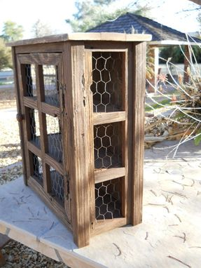Custom Made Small Wooden Medicine Cabinet Or Pie Safe