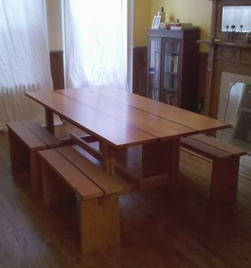 Custom Made Large Dining Table And Seating