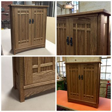 Custom Made Stickley Style Arts And Crafts Cabinet