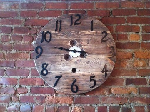 Custom Made Upcycled Spool Clock