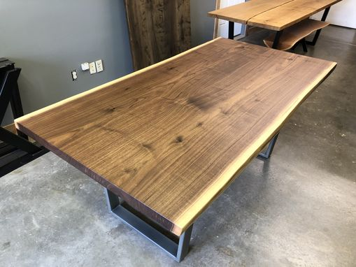 Custom Made Live Edge Black Walnut Table