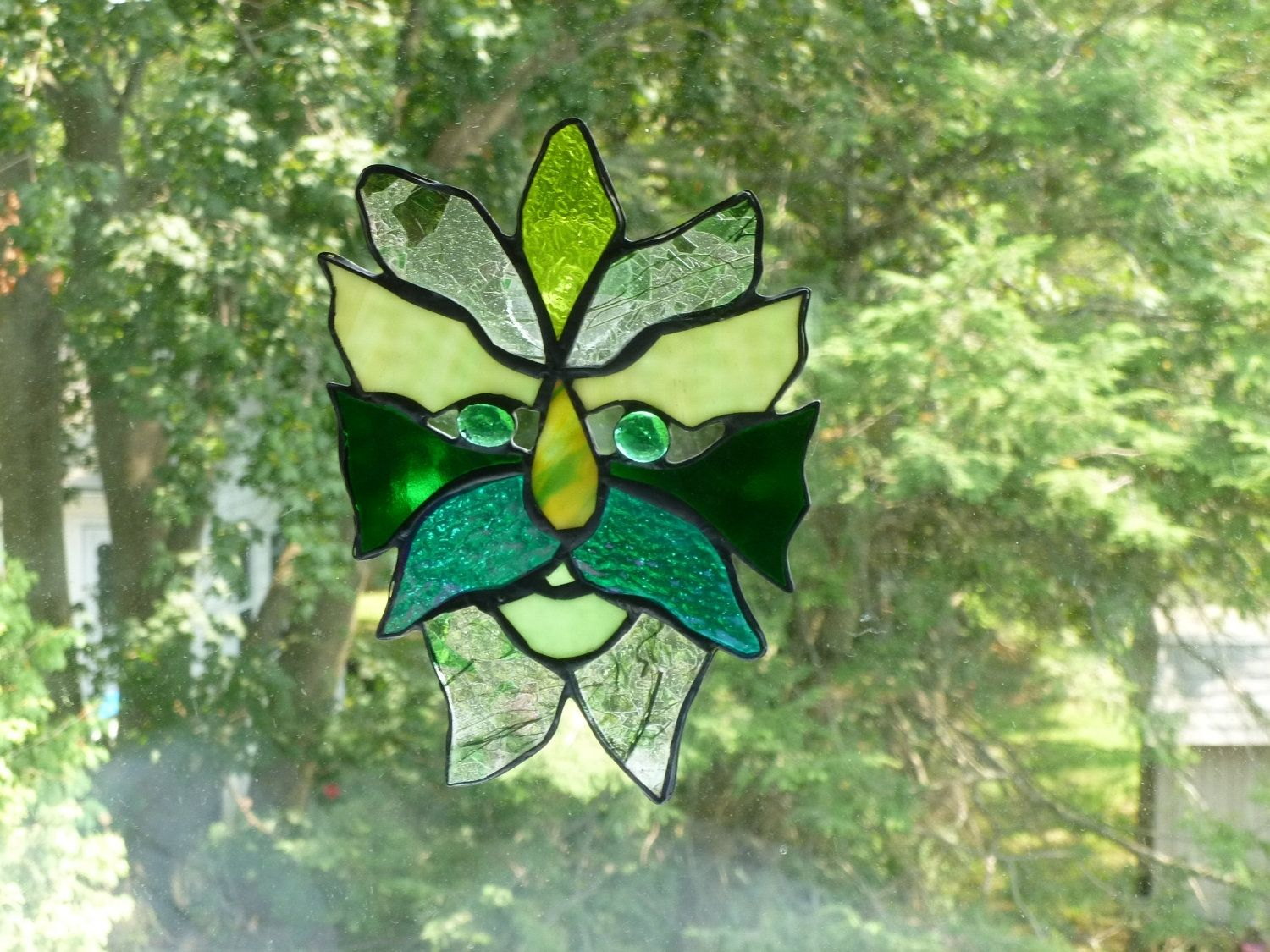 Buy a Handmade Medieval Green Man Stained Glass Light Catcher ...