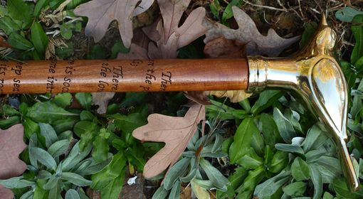 Custom Made Walking Stick/Cane, The Love Of Nature