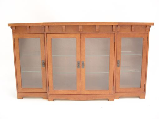 Custom Made Oak Arts & Crafts Cabinet