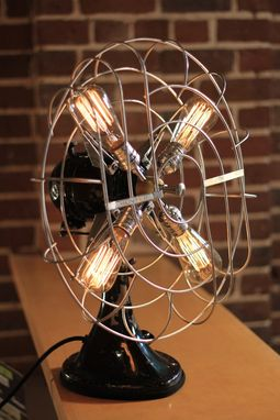 Custom Made Vintage Fan Lamp