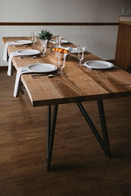 "Custom Made ""The North"" Live Edge Dining Table - Ash"