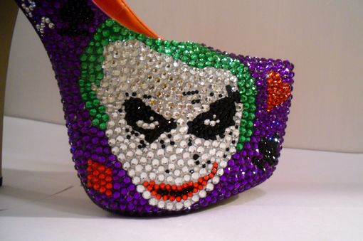 Custom Made The Joker Heels (Dark Knight)