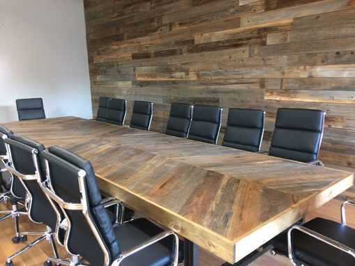 Custom Made Conference Table- Chevron !!