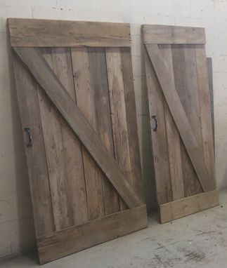 Custom Made Sleek And Rustic Authentic Ks Barn-Wood Sliding Barn Doors