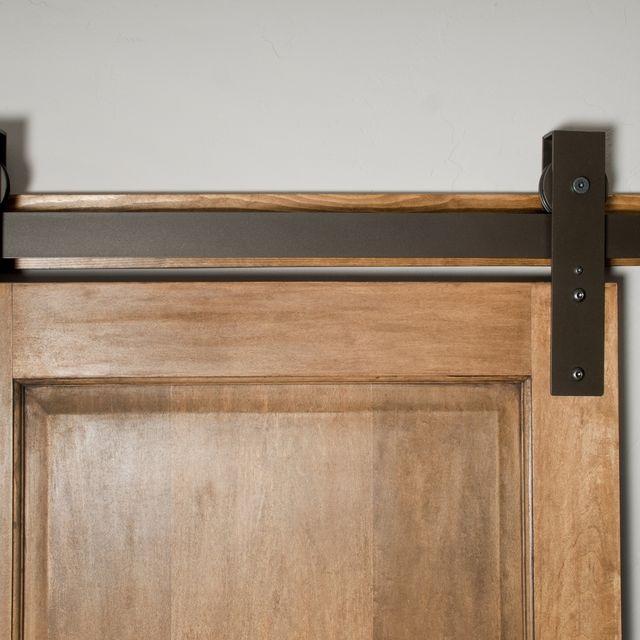Hand Made Interior Barn Door Hardware Flat Track Installation By