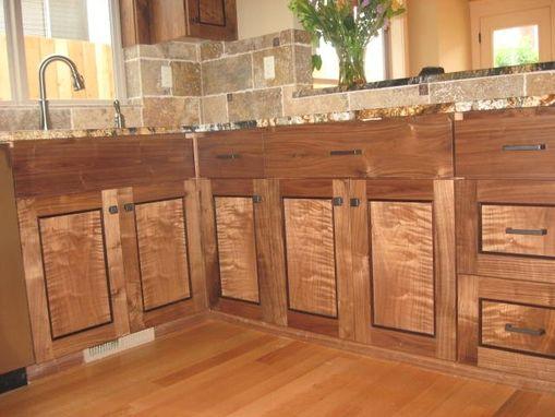 Custom Figured Walnut Cabinets Seattle Washington By