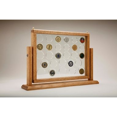 Custom Made Challenge Coin Display, Medium Swing Coin Display