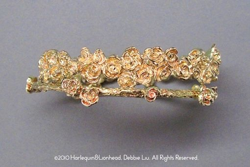Custom Made Rose Wreath Bracelet - Gold Plated
