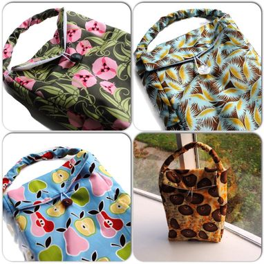 Custom Made Handmade Reusable Insulated Lunch Bags