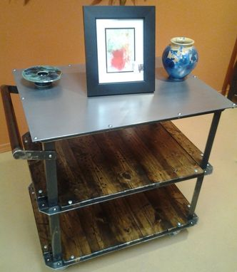 Custom Made Modern Industrial / Vintage Style Cart