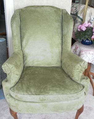 Custom Made Slipcovered Wing Chair