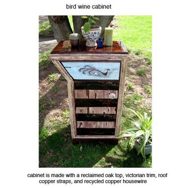 Custom Made Copper Bird Cabinet