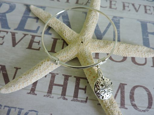 Custom Made Adjustable Silver Plated Charm Bangle Bracelet