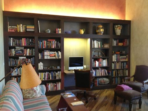 Custom Made Built-In Bookcase And Desk