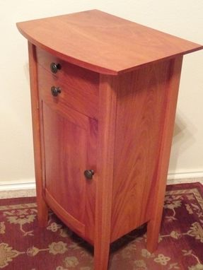 Custom Made Curved Front Nightstand