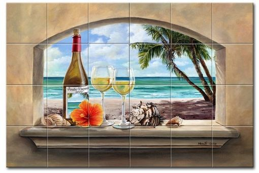 Custom Made Afternoon In The Keys Tile Mural