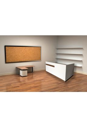Custom Made #90 Hand Crafted Melamine With Veneer Accents Reception Or Pos Desk