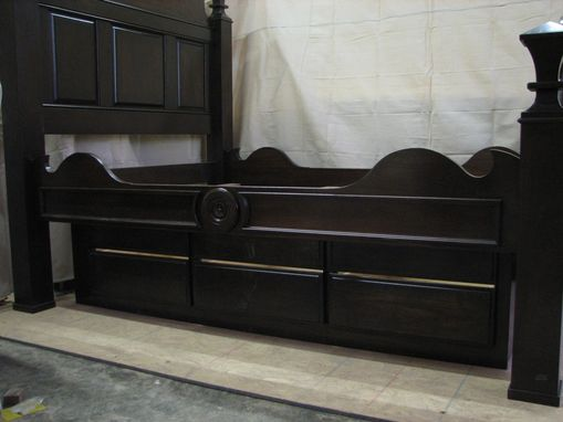 Custom Made Walnut Bed