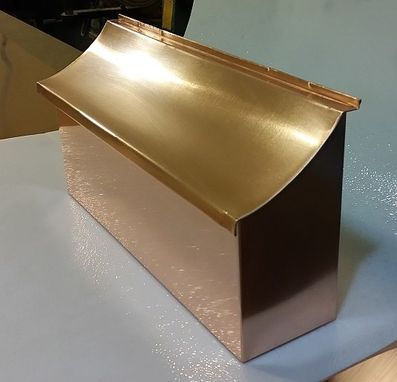 Custom Made Flush Mount Copper Mailbox