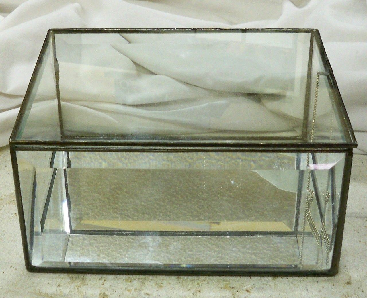 Handmade Over Sized Stained Glass Display Box By
