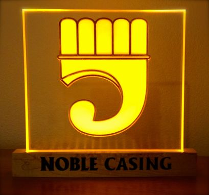 Custom Made Noble Casing Desktop L E D Sign