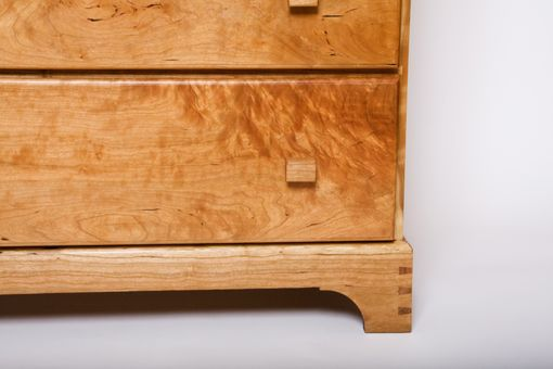 Custom Made Curly Cherry Chest Of Drawers