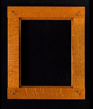 Custom Made Bridlejoint Picture Frame