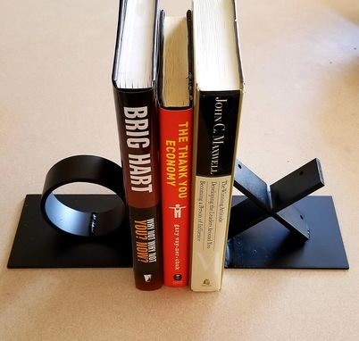 Custom Made Reclaimed Steel Ox Bookends