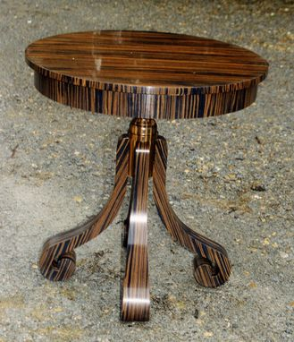 Custom Made A Contemporary Side Table In Macassar Ebony