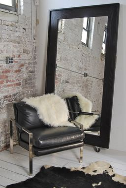 Custom Made Ebony Framed Mirror