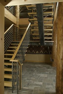 Custom Made Contemporary Stair Case And Railing