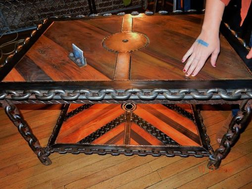 Buy A Hand Made Industrial Steampunk Coffee Table Made To