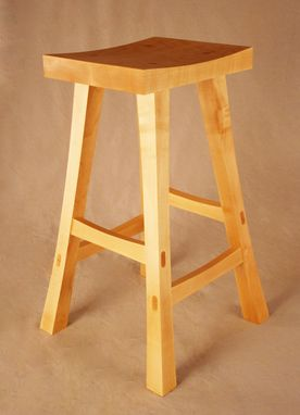 Custom Made Asian Kitchen Stool Made Out Of Maple