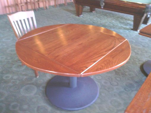Custom Made Round Oak Restaurant Table