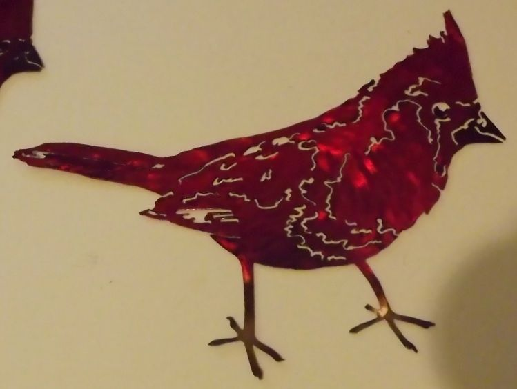 Hand Made Cardinal Metal Wall Art Sculpture by Superior Iron-Artz ...