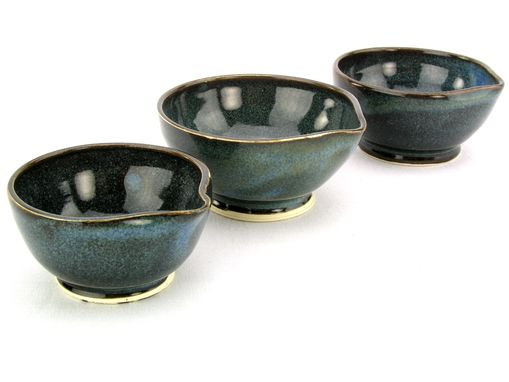 Custom Made Prep Bowls Cups Stoneware-Porcelain Ceramic In Denim