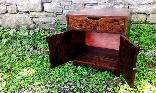 Custom Made Danish Modern Reclaimed Douglas Fir Nightstand