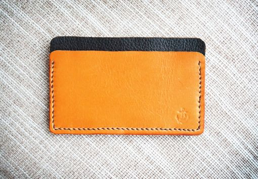 Custom Made Men's Leather Wallet Card Holder