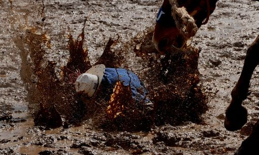 Custom Made Fine Art Photography Of Bronc Rider In The Mud