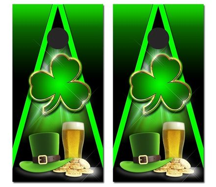 Custom Made Full Vinyl Graphic Customized Corn Hole Boards - Beer, Bages, Irish