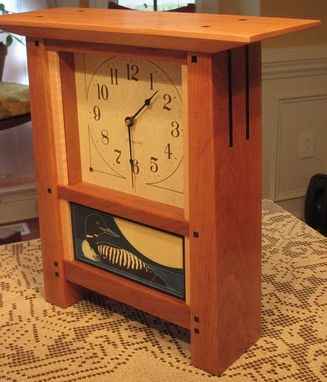 Custom Made Mission / Arts & Crafts Mantle Clocks