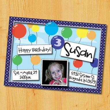 Custom Childrens Birthday Party Invitation