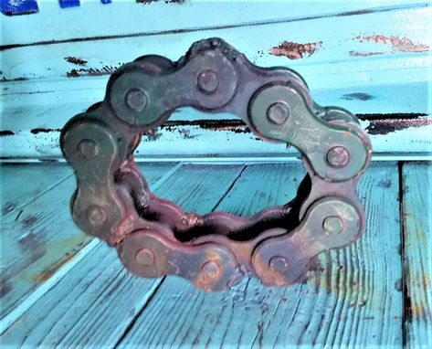 Custom Made Small Letter O Welded Chain Art Sign