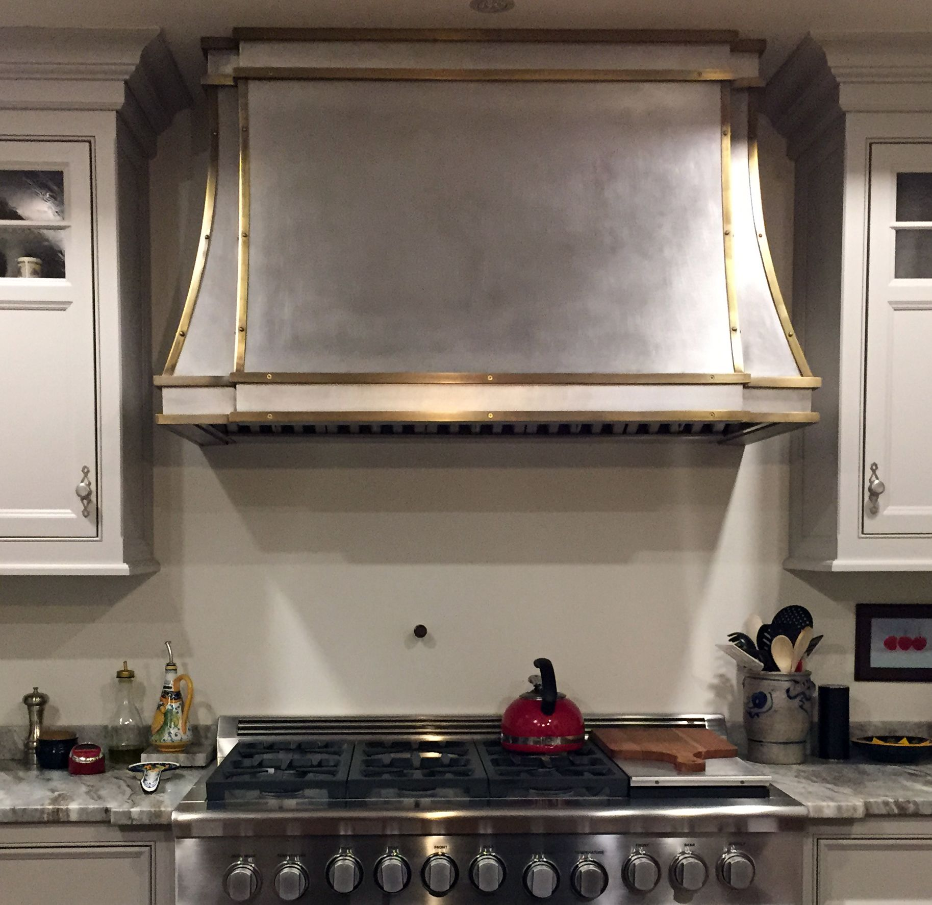 Decorative Range Hoods For Gas Stoves ~ Custom made brass and stainless range hood by lightfast