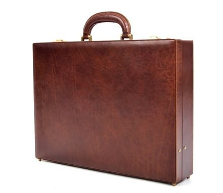 Custom Made Amalfi Men's Leather Attache Case